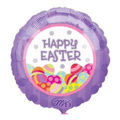 Folie 45 cm Happy Easter Oua, Amscan 10718