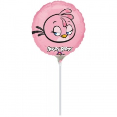 "Balon Mini-Folie Angry Birds Pink - 9""/23cm, Amscan 2720009"