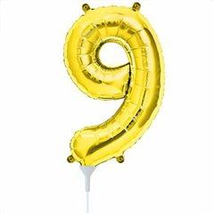 "Baloane Folie cu Cifre 0-9 Gold - 16""/41 cm, Northstar Balloons, 1 buc"