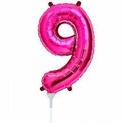 "Balon Folie Cifra 9 Magenta - 16""/41cm, Northstar Balloons 00451"