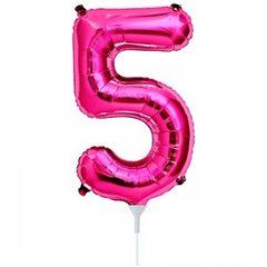 "Balon Folie Cifra 5 Magenta - 16""/41cm, Northstar Balloons 00447"