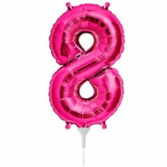 """Baloane Folie cu Cifre 0-9 Magenta - 16""""/41cm, Northstar Balloons, 1 buc"""