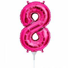 "Balon Folie Cifra 8 Magenta - 16""/41cm, Northstar Balloons 00450"