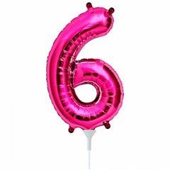 "Balon Folie Cifra 6 Magenta - 16""/41cm, Northstar Balloons 00448"