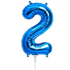 "Balon Folie Cifra 2 Albastru - 16""/41cm, NorthStar Balloons 00454"