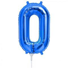 "Balon Folie Cifra 0 Albastru - 16""/41cm, NorthStar Balloons 00452"