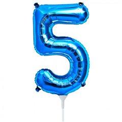 "Balon Folie Cifra 5 Albastru - 16""/41cm, NorthStar Balloons 00457"