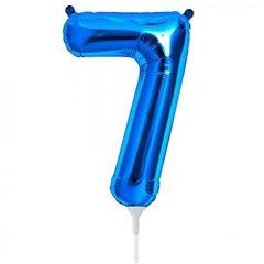 "Balon Folie Cifra 7 Albastru - 16""/41cm, NorthStar Balloons 00459"