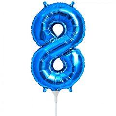 "Balon Folie Cifra 8 Albastru - 16""/41cm, NorthStar Balloons 00460"