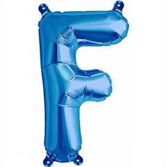 "Balon Folie Litera F Albastru - 16""/41 cm, Northstar Balloons 00536"