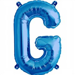 "Balon Folie Litera G Albastru - 16""/41 cm, Northstar Balloons 00537"