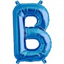 Balon folie litera B albastru - 41 cm, Qualatex 59384
