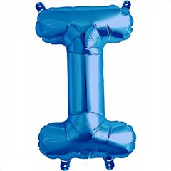 "Balon Folie Litera I Albastru - 16""/41 cm, Northstar Balloons 00539"