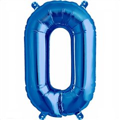 "Balon Folie Litera O Albastru - 16""/41 cm, Northstar Balloons 00545"