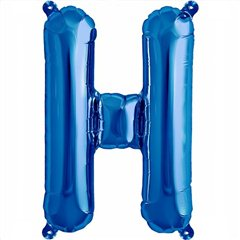 "Balon Folie Litera H Albastru - 16""/41 cm, Northstar Balloons 00538"