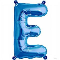 "Balon Folie Litera E Albastru - 16""/41 cm, Northstar Balloons 00535"