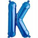 "Balon Folie Litera K Albastru - 16""/41 cm, Northstar Balloons 00541"