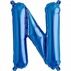 "Balon Folie Litera N Albastru - 16""/41 cm, Northstar Balloons 00544"