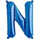 Balon folie litera N albastru - 41 cm, Qualatex 59408