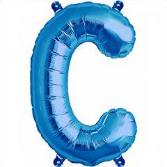 "Balon Folie Litera C Albastru - 16""/41 cm, Northstar Balloons 00533"