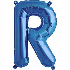 "Balon Folie Litera R Albastru - 16""/41 cm, Northstar Balloons 00548"