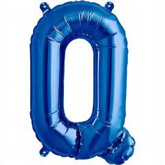 "Balon Folie Litera Q Albastru - 16""/41 cm, Northstar Balloons 00547"