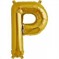 Balon folie litera P auriu - 41cm, Amscan 33043