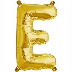 """Balon Folie Litera E Auriu - 16""""/41 cm, Northstar Balloons 00571"""