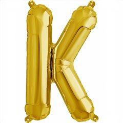 Balon folie litera K auriu - 41cm, Amscan 33033