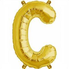 "Balon Folie Litera C Auriu - 16""/41 cm, Northstar Balloons 00569"