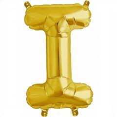 "Balon Folie Litera I Auriu - 16""/41 cm, Northstar Balloons 00575"