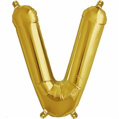 "Balon Folie Litera V Auriu - 16""/41 cm, Northstar Balloons 00588"