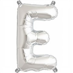 "Balon Folie Litera E Argintiu - 16""/41 cm, Northstar Balloons 00483"