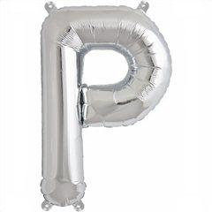 "Balon Folie Litere A-Z Argintiu, 41 cm / 16"", Northstar Balloons, 1 buc"