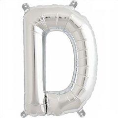 "Balon Folie Litera D Argintiu - 16""/41 cm, Northstar Balloons 00482"