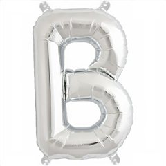 "Balon Folie Litera B Argintiu - 16""/41 cm, Northstar Balloons 00480"