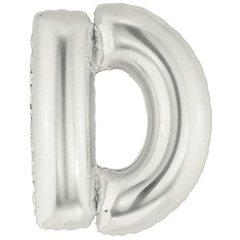 """Balon Folie Mare Litera D Argintiu - 34""""/86 cm, Northstar Balloons 00199"""