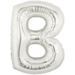 "Balon Folie Mare Litera B Argintiu - 34""/86 cm, Northstar Balloons 00197"
