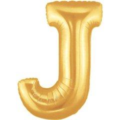 "Balon Folie Mare Litera J Auriu - 34""/86 cm, Northstar Balloons 00257"