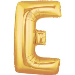 """Balon Folie Mare Litera E Auriu - 34""""/86 cm, Northstar Balloons 00252"""