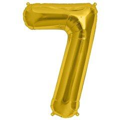 """Balon Folie Mare Cifra 7 Gold - 34""""/86 cm, Amscan 28256"""