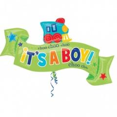 Balon folie figurina Welcome Little Boy 101x 55cm, Amscan 30904