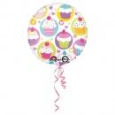 Balon Folie 45cm Cupcake, Amscan 29304