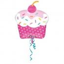 Balon folie figurina Cupcake - 71cm, Amscan 29305