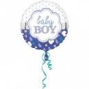 Balon Folie 45cm Baby Boy, Amscan 3364201