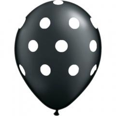 Baloane latex negre inscriptionate Big Polka Dots, Radar GI.DOTS.NEGRU