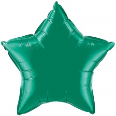 Balon folie emerald green metalizat stea - 45cm, Northstar Balloons 00597