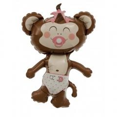 Balon folie figurina Maimutica fetita, Northstar Balloon 00341