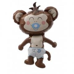 Balon mini figurina Baby Boy Maimutica baietel - 36cm + bat si rozeta, Northstar Balloons 00410