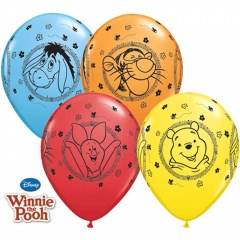 "Baloane latex 11""/28cm Winnie The Pooh, Qualatex 18710, Set 25 buc"